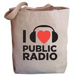 I Heart Public Radio Tote Bag
