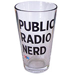 Public Radio Nerd Pint Glass